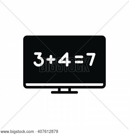 Black Solid Icon For Sum Total Number Equal Addition Add Tally