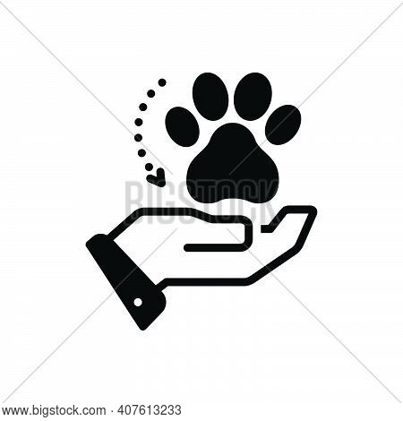 Black Solid Icon For Adoption Acceptance Espousal Animal Veterinarian Paw Care