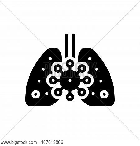 Black Solid Icon For Causing Disease Liver Health Detoxification Awareness Biological