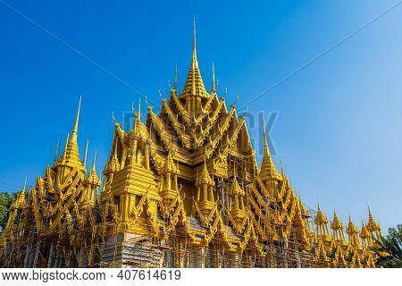 Buddha Statue At In Temple (thai Language:wat Chan West) Is A Buddhist Temple (thai Language:wat) It