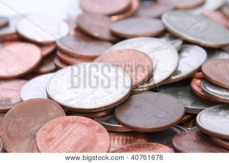 Loose change coins