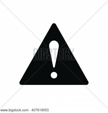 Black Solid Icon For Significantly Risk Caution Danger Prevent Security Precaution Important-sign