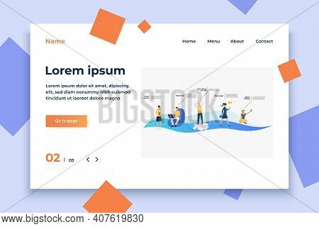Messenger, Streaming And Music Online Services Customers. Application, Website Concept, Presentation