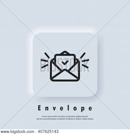 Email Icon. Open Envelope. Newsletter Logo. Email And Messaging Icons. Email Marketing Campaign. Vec