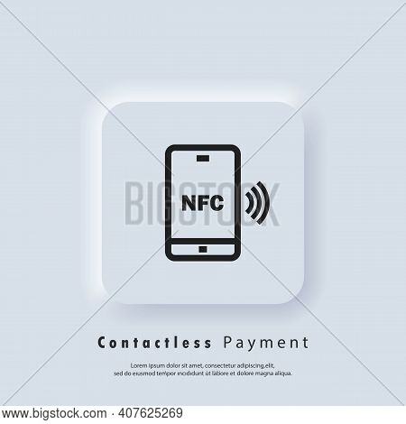 Payment With Smartphone Icons. Contactless Payment Icon. Nfc Icon. Wireless Payment. Contactless Cas