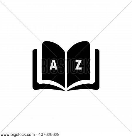 Dictionary Icon. Glossary. Badge With Book. Dictionary Logo. Library Icon. Vector Eps 10