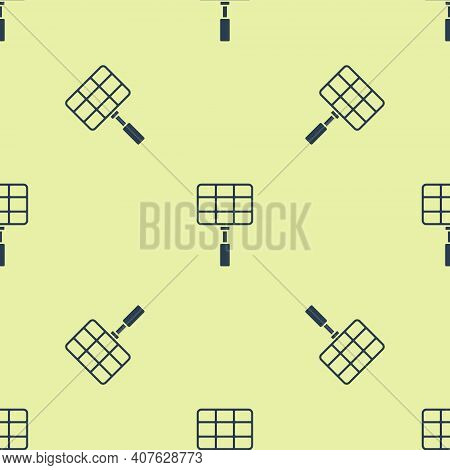 Black Barbecue Steel Grid Icon Isolated On White Background. Top View Of Bbq Grill. Wire Rack For Bb