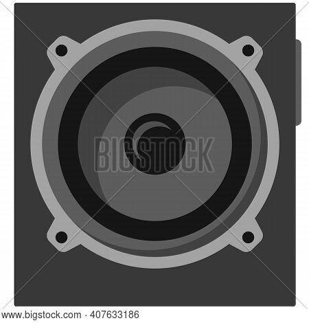 Music Subwoofer Speaker Isolated On White Background