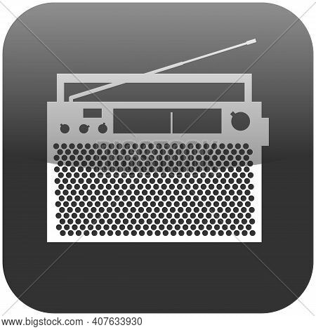 Obsolete Radio Announcer With Antenna Vector Icon