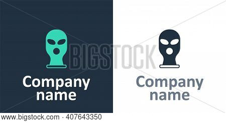 Logotype Balaclava Icon Isolated On White Background. A Piece Of Clothing For Winter Sports Or A Mas