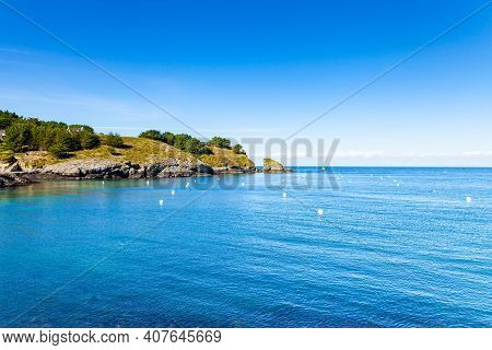 Seascape At The Entrance Of The Port Of Sauzon On The Island Of Belle Ile En Mer In The Morbihan