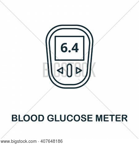 Blood Glucose Meter Icon. Simple Element From Digital Health Collection. Creative Blood Glucose Mete
