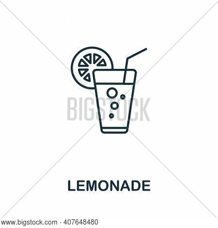 Lemonade Icon. Simple Element From Drinks Collection. Creative Lemonade Icon For Web Design, Templat