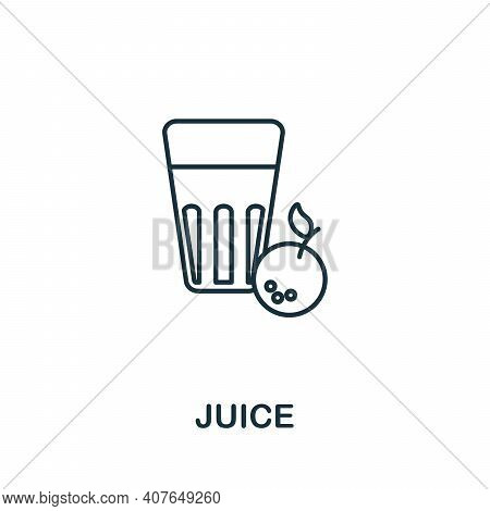 Juice Icon. Simple Element From Drinks Collection. Creative Juice Icon For Web Design, Templates, In