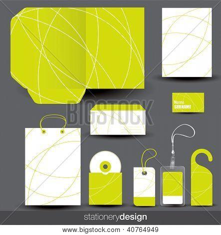 Stationery design set. Editable format in portfolio.