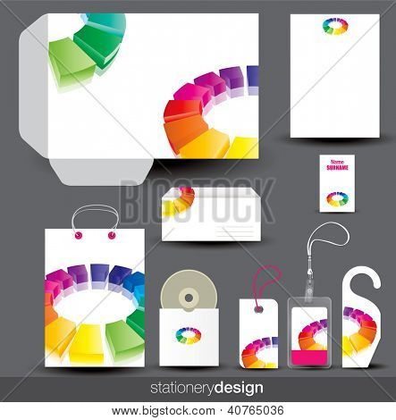 Stationery design set. Vector format in portfolio.