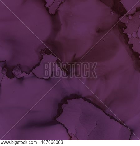 Alcohol Wine Background. Watercolour Maroon Texture. Modern Painted Splash. Bright Art Design. Burgu