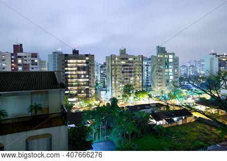 Joinville, Santa Catarina State, Brazil, South America - November 29, 2010: Cityscape Of A Residenti