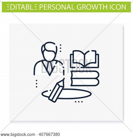 Learning Zone Line Icon. Route To Success. Self Improvement And Self Realization. Business And Caree