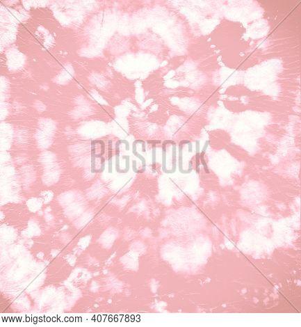 Art Grunge Dress. Color Light Texture. Artistic Print. Pink Spiral Tie Dyed. Tie Die Circular Backdr