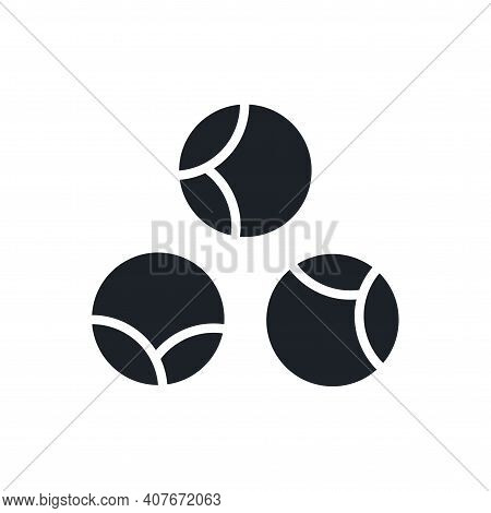Brussels Sprouts Icon. Black Isolated Silhouette. Fill Solid Icon. Modern Design. Vector Illustratio