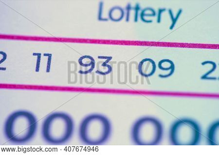 One Million Dollar Winning Lottery Ticket. High Quality Photo