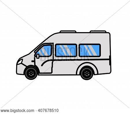 Gazelle Car On A White Background. Symbol. Vector Illustration.