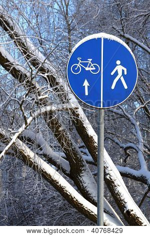Winter Road Sign