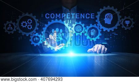 Competence Skills Personal Development Business Education Concept.