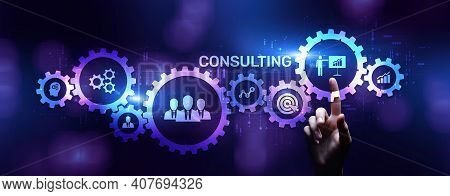 Consulting Firm Service Business Finance Solutions Concept.