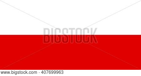 Official Large Flat Flag Of Thuringia Horizontal