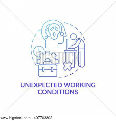 Unfulfilled Desires Concept Icon. Unrealized Dream And Emotional Burden Idea Thin Line Illustration.