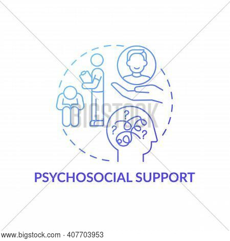 Psychological And Social Support Concept Icon. Perception And Reality Idea Thin Line Illustration. E