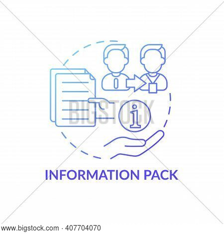 Materials For New Workers Concept Icon. Useful Information Pack Idea Thin Line Illustration. Data, M
