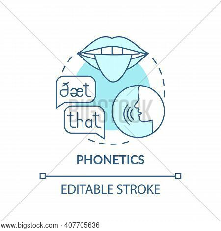 Phonetics Concept Icon. Language Learning Category Idea Thin Line Illustration. Acoustic Qualities.