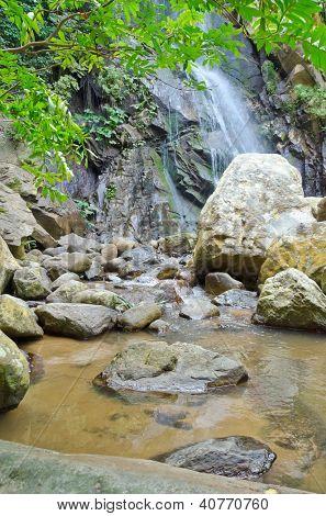 Beautiful Tropical Waterfall in Yelapa, Puerto Vallarta, Mexico.