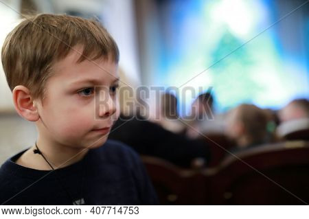 Boy Watching Performance In Theater