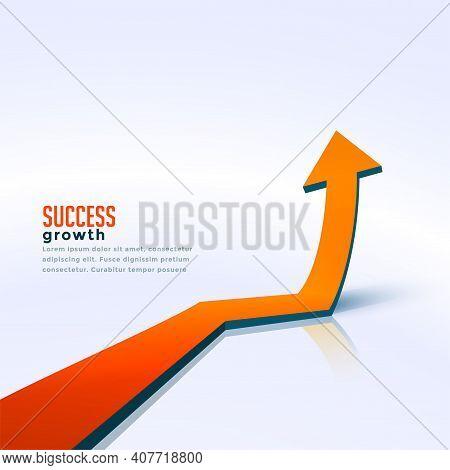 Business Success Growth Arrow Moving Upward Background