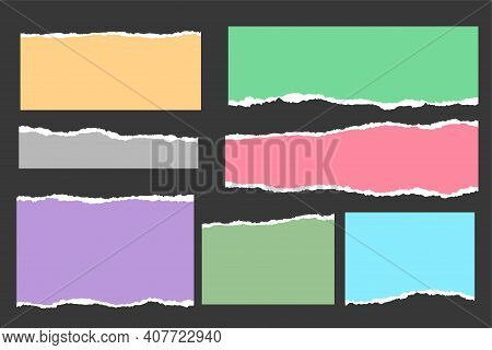 Ripped Torn Paper Sheets Collection In Many Colors