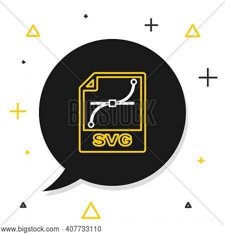 Line Svg File Document. Download Svg Button Icon Isolated On White Background. Svg File Symbol. Colo