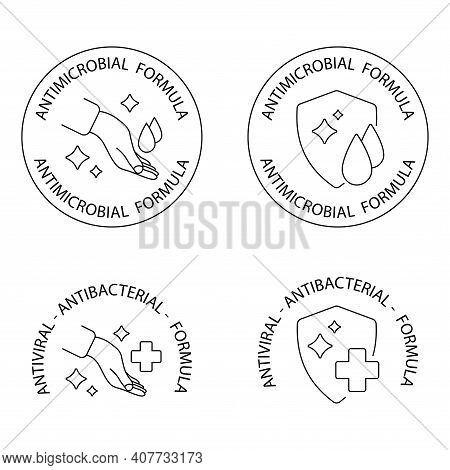Antimicrobial Resistant Badges. Antibacterial And Antiviral Defense, Badges. Defense Antimicrobial C