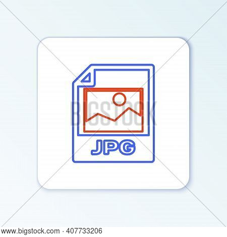 Line Jpg File Document. Download Image Button Icon Isolated On White Background. Jpg File Symbol. Co