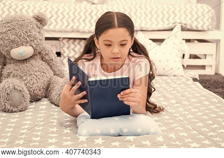 Little Child Read English Book. Small Girl Learn English. English Literature. English Grammar. Leran