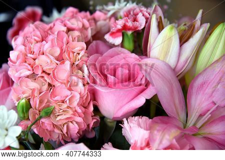Floral Bouquet All In Pink