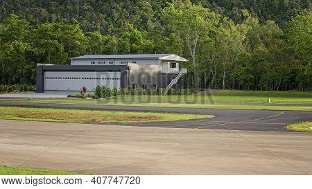 Airlie Beach, Queensland, Australia - February 2021: Caretakers House Beside Whitsunday Airport Runw