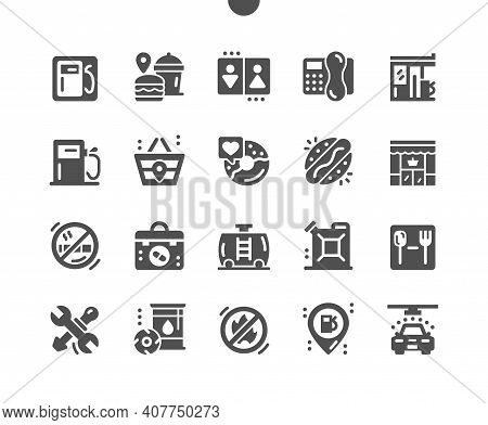 Gas Station. Barrel Of Gasoline. Car Wash Services. Transport, Repairs, Energy, Industry, Benzine, G