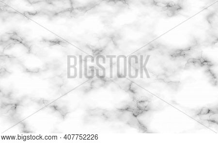 Stone Texture White With Black Marble Background - Vector Illustration