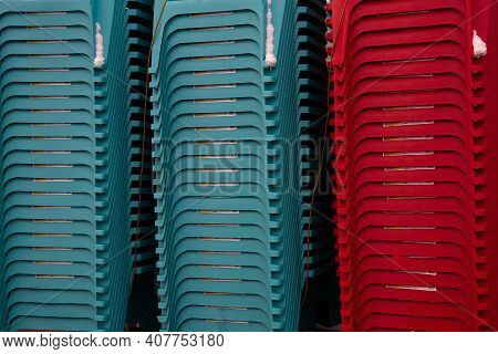 Many Plastic Chairs Sit Color Modern Furniture