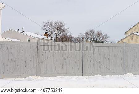 Vinyl Gray Fence Home Wall Plastic New