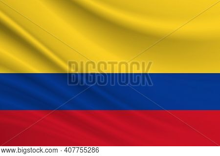 Flag Of Colombia Fabric Texture Of The Flag Of Colombia.
